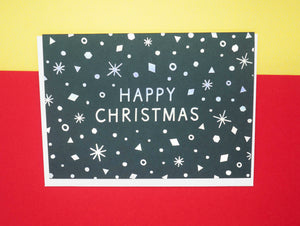 christmas-card-green-silver-snowing