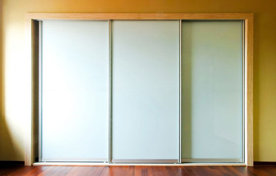 Spacemaker Wardrobes - Painted Glass Doors