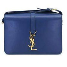 Dark Slate Gray YVES SAINT LAURENT Indigo Blue Handbag