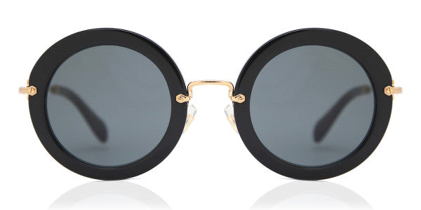 MIU MIU Black Round Sunglasses