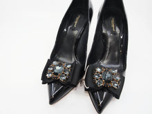DOLCE & GABBANA Patent Bow Heels (38.5)