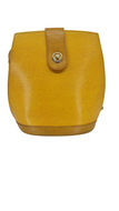 LOUIS VUITTON Tassil Epi Leather Cluny Bucket Bag Yellow