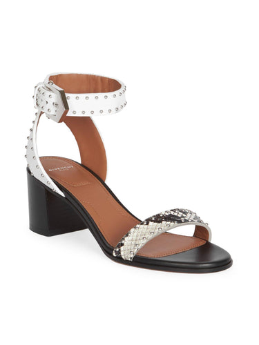GIVENCHY Studded Block Heel Sandals (38)