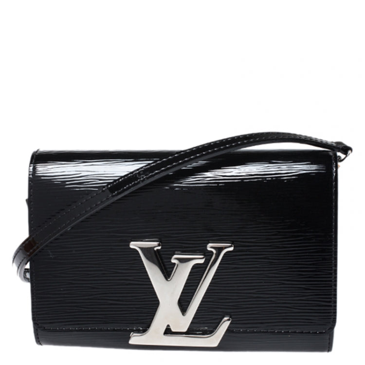 LOUIS VUITTON Louise PM Epi Patent Clutch