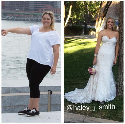 Bride loses 100+ pounds after engagement pic wake-up call (Smart is so Sexy)