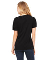 Ladies' V-Neck Smart is so Sexy College Black T-Shirt