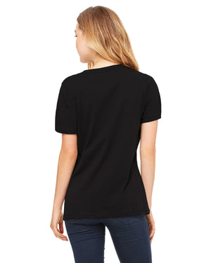 Ladies' Relaxed Jersey Short-Sleeve V-Neck Smart is so Sexy College Black T-Shirt (Free Shipping 2-5 Days USA)