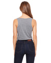 Deep Heather Ladies' Smart is so Sexy College Crop Tank