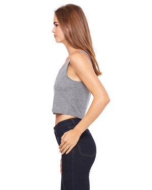 Deep Heather Ladies' Poly-Cotton Smart is so Sexy College Crop Tank (Free Shipping 2-5 Days USA)