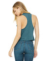 Heather Deep Teal Ladies' Racerback Cropped Keep Going Tank