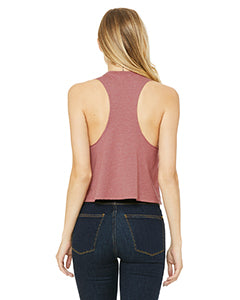 Heather Mauve Ladies' Racerback Cropped Smart is so Sexy Tank (Free Shipping 2-5 Days USA)