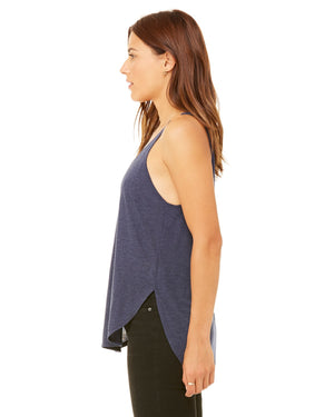Heather Navy Ladies' Flowy Side Slit Smart is so Sexy College Tank (Free Shipping 2-5 Days USA)