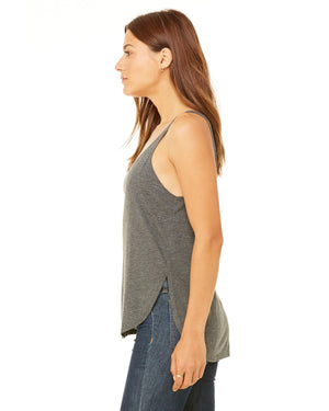 Dark Grey Heather Ladies' Flowy Side Slit Smart is so Sexy College Tank (Free Shipping 2-5 Days)