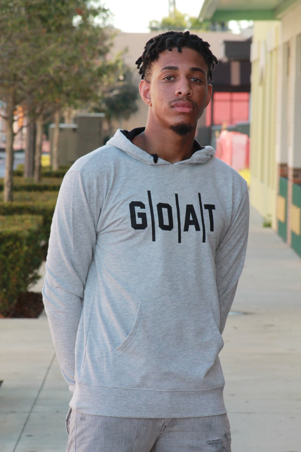 Adult Pullover GOAT Hoodie - Gray
