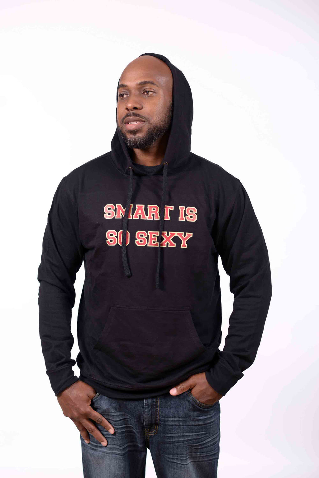 Adult Pullover Smart is so Sexy Hoody - Black