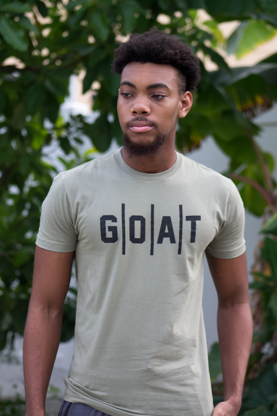 MEN's/WOMEN's G|O|A|T Light Olive T-SHIRT