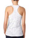 Ladies' White Burnout Racerback Tank Fit Is So Sexy
