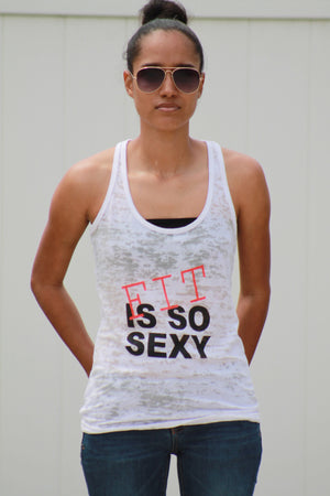 Ladies' White Burnout Racerback Tank Fit Is So Sexy (FREE SHIPPING 2-5 DAYS USA)