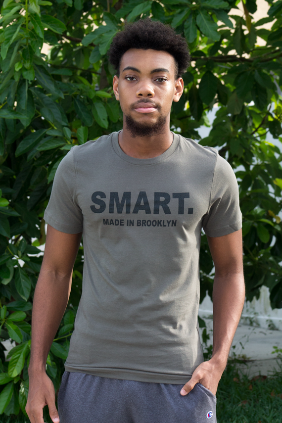 Smart Period Made in Brooklyn Unisex Army Color T-Shirt