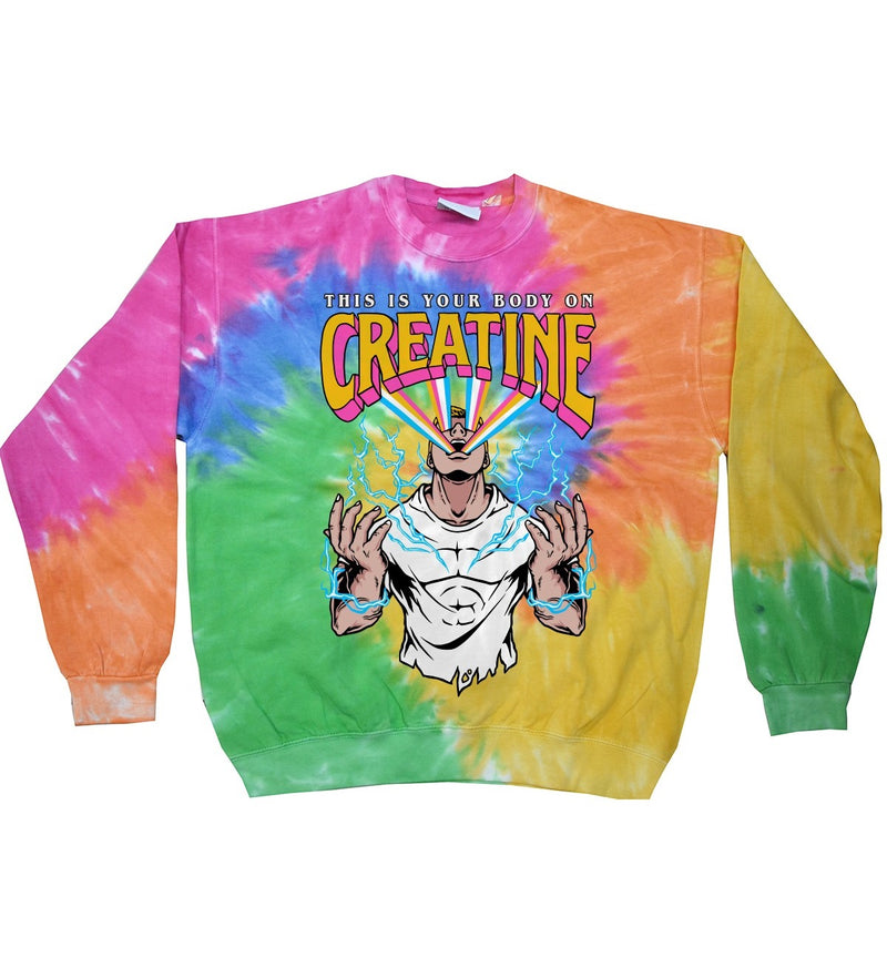 Your Body On Creatine (Limited Edition Tie Dye Longsleeve)