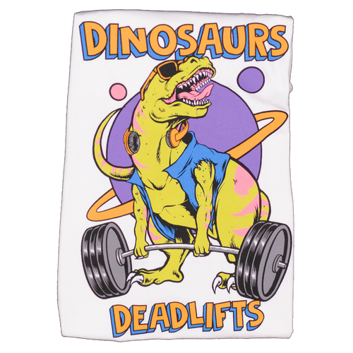 Dinosaurs & Deadlifts: After School Edition (Fitted Tee)