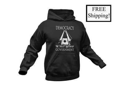Democracy: the Freest System Light Hoodie