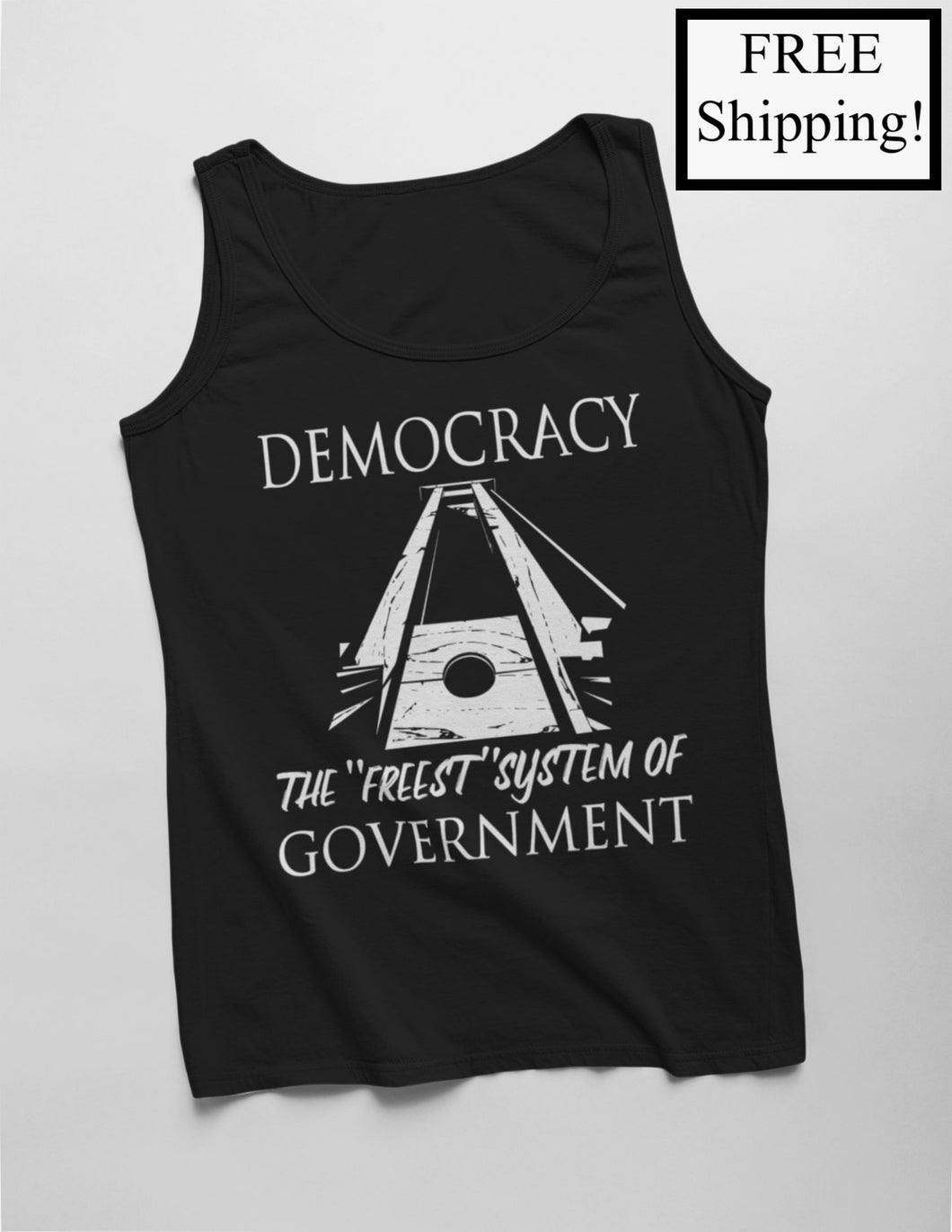 Democracy: the Freest System Tank Top