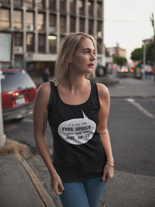 I'm All for Free Speech Women's Tank Top
