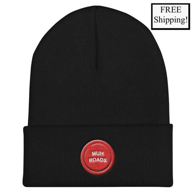 Muh Roads Button Beanie