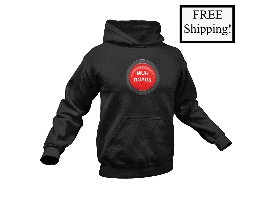 Muh Roads Button Light Hoodie