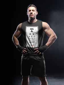 Taxation is Theft Eye Chart Tank Top