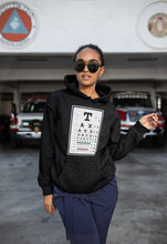 Load image into Gallery viewer, Taxation is Theft Eye Chart Light Hoodie