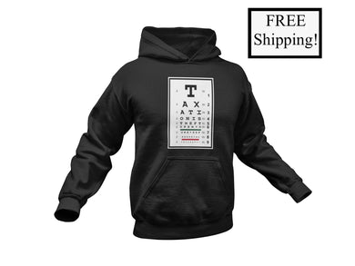 Taxation is Theft Eye Chart Heavy Hoodie