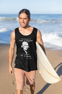 Thomas Jefferson Sea of Liberty Tank Top