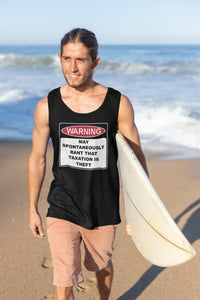 Warning Rant Taxation is Theft Tank Top