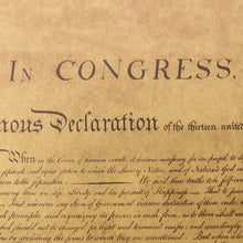 Load image into Gallery viewer, The Declaration of Independence Vintage Poster