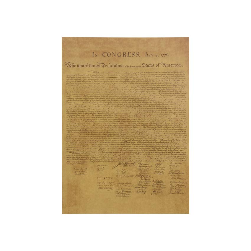 The Declaration of Independence Vintage Poster