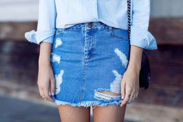 Stylish Denim Skirt via Tuula