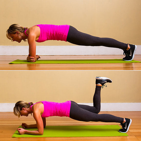 Donkey Kick via PopSugar Fitness