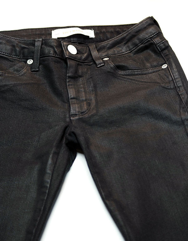 Lucy Marie Black Coated Skinny Jean