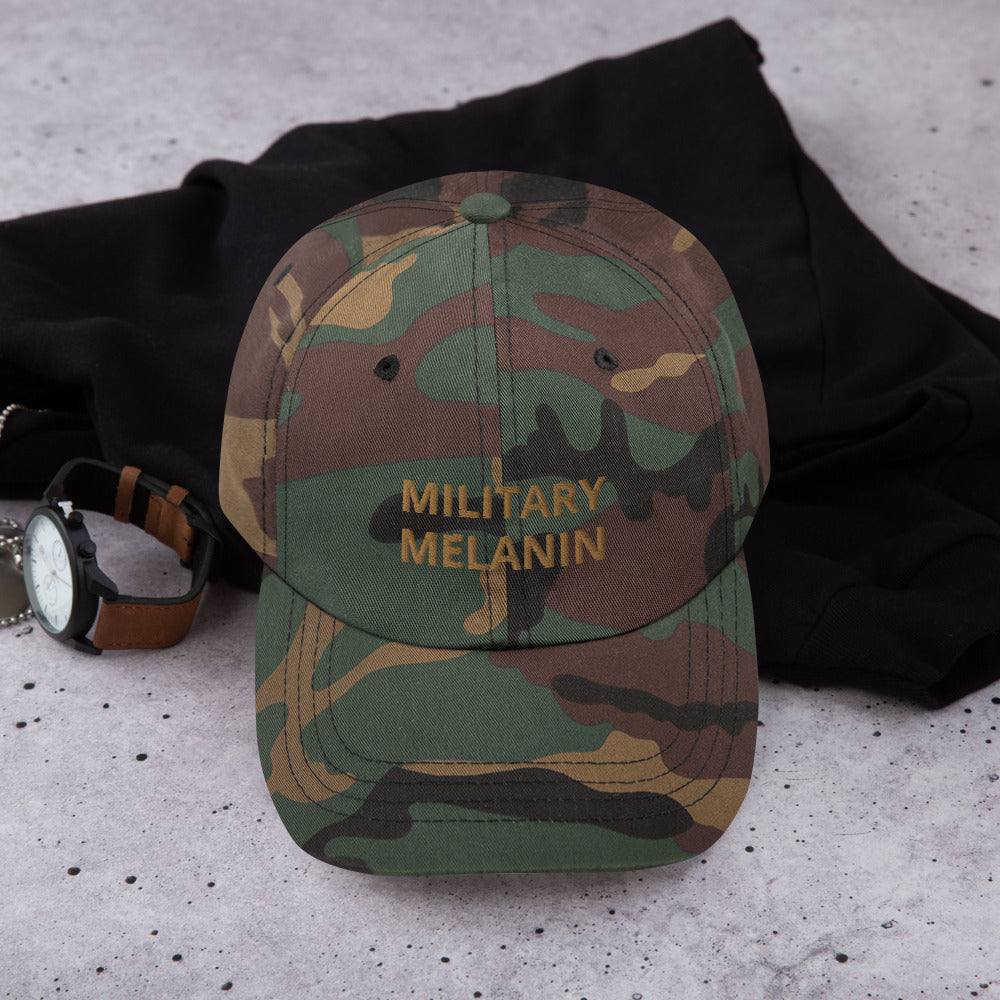 Military Melanin Dad Hat