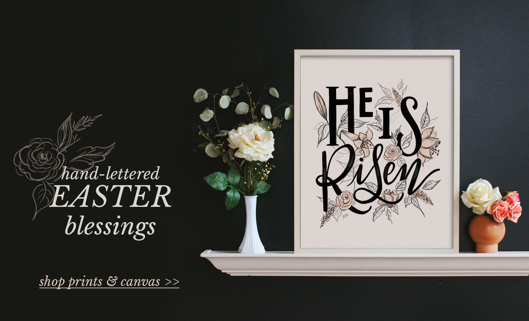 Hand-lettered Easter Wall Art Print