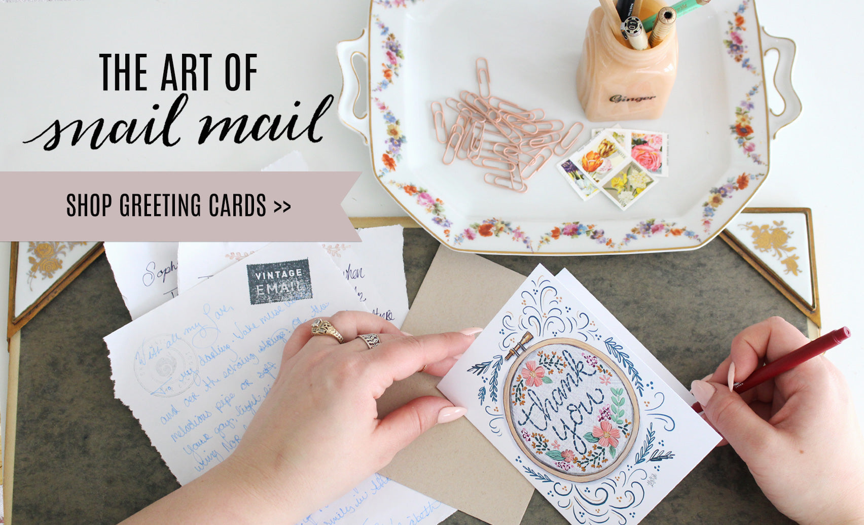 The art of Snail Mail - shop Greeting Cards.