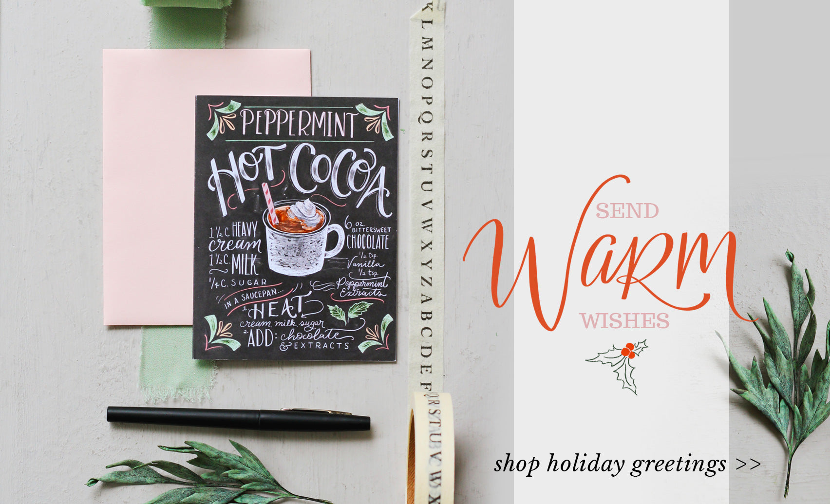 Send Warm Wishes - Shop Holiday Greeting Cards >>