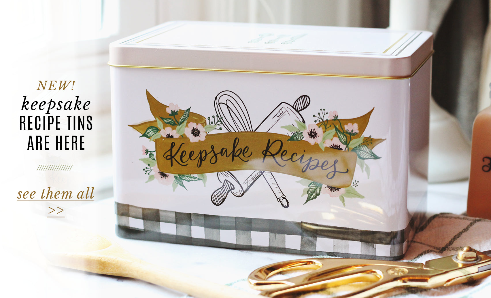 New! Recipe Tins are here.