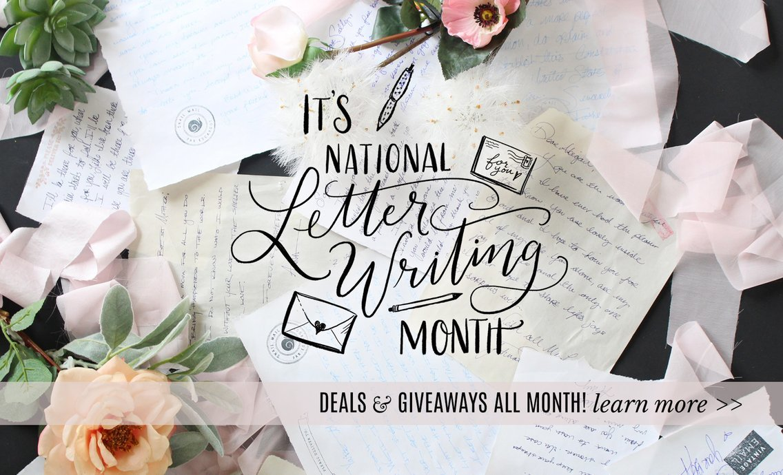 It's National Letter Writing Month