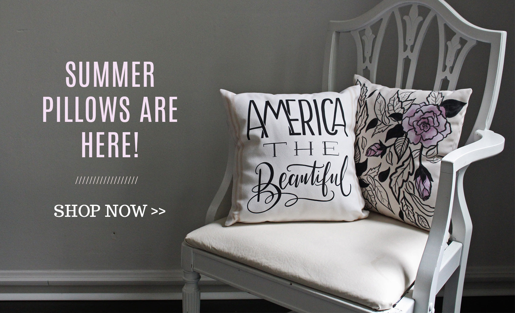 Summer Pillows and home decor from Lily & Val.