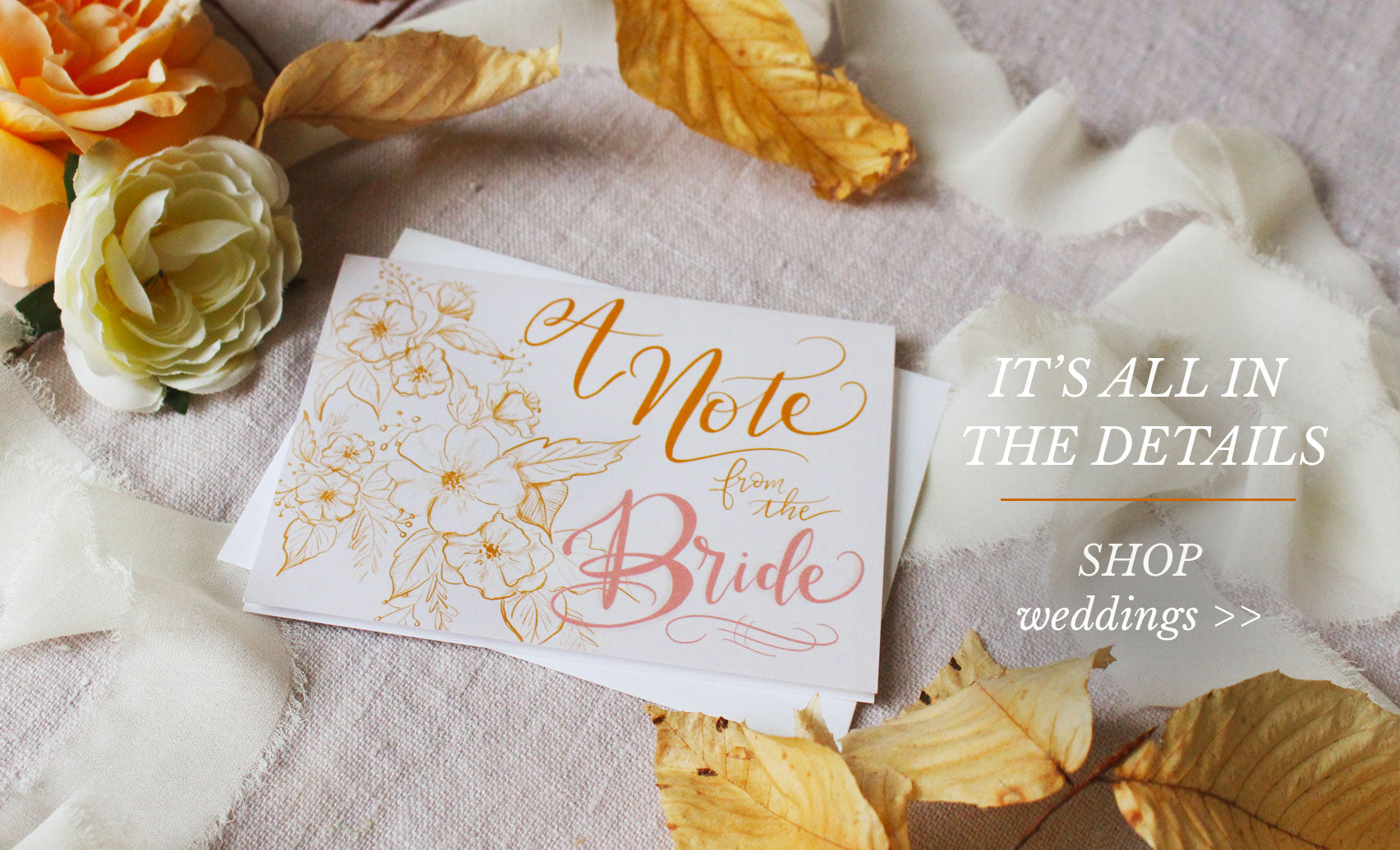 A Note From the Bride Note Cards - It's All in the Details