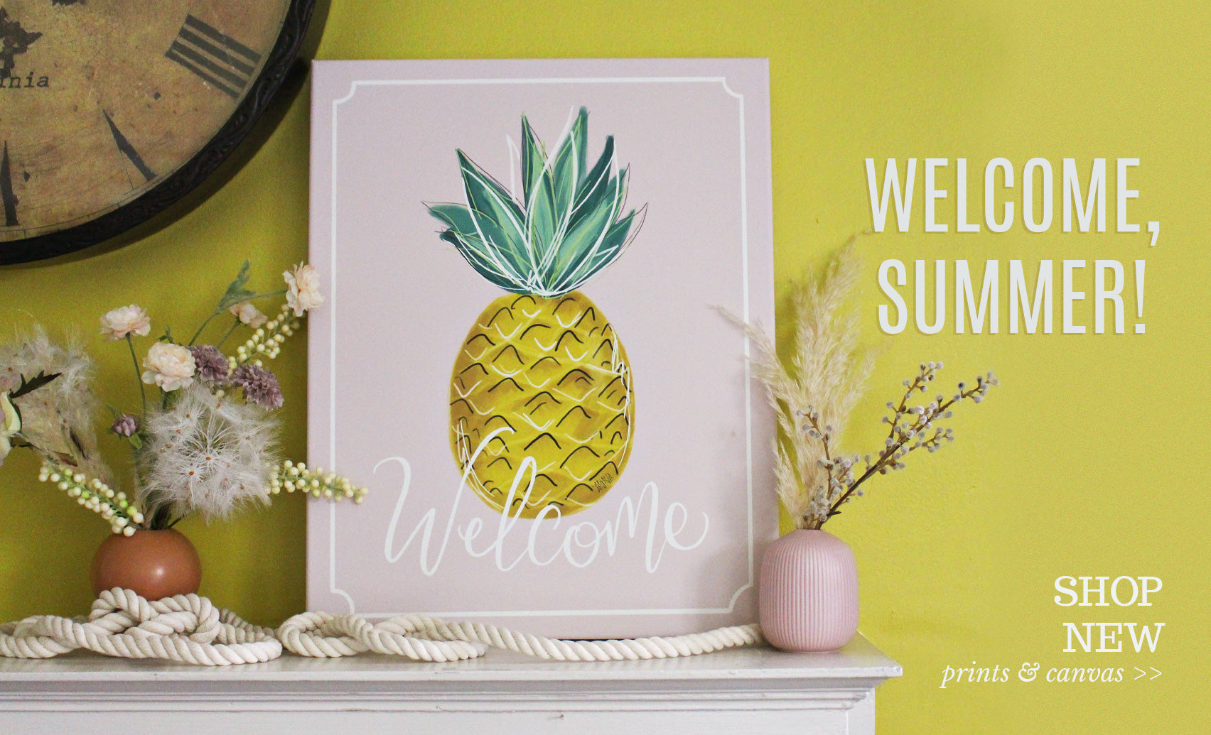 Pineapple Welcome Wall Art & Decor for your home!