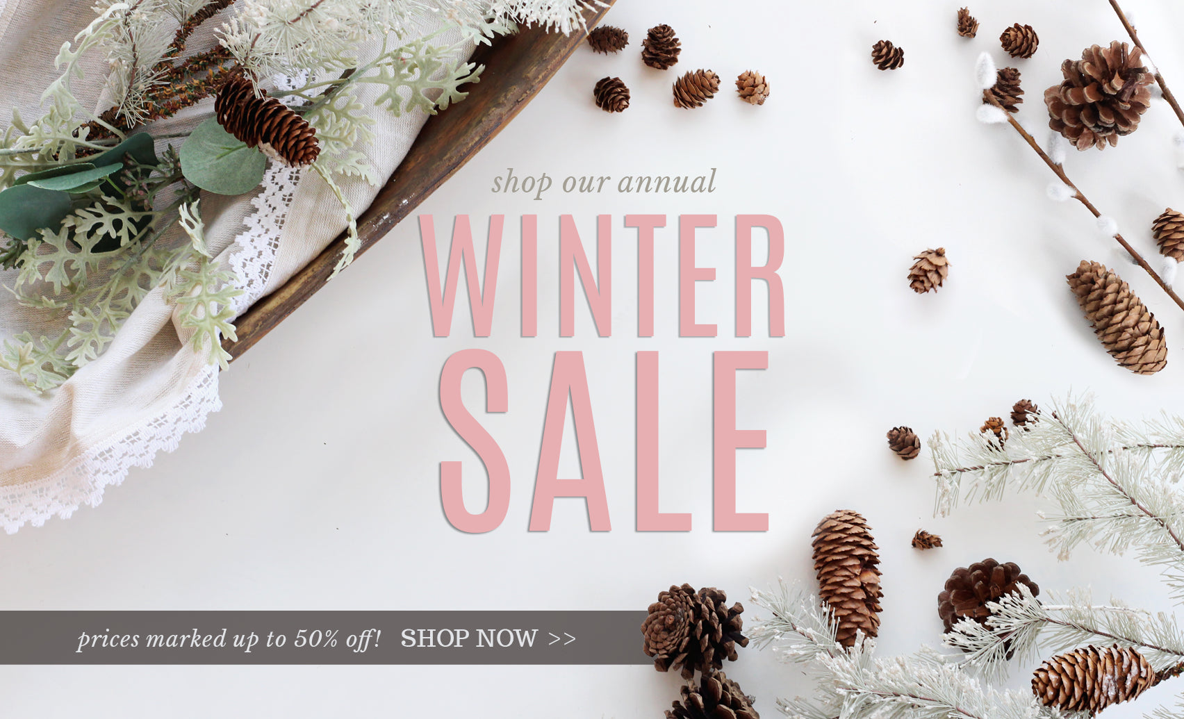 The Winter Clearance is on! Up to 50% off!